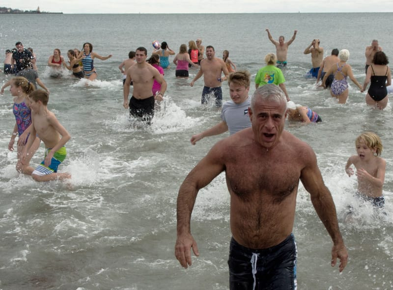 PHOTOS: At Polar Bear Plunge, Locals Rally To Raise Money for Kids In Crisis