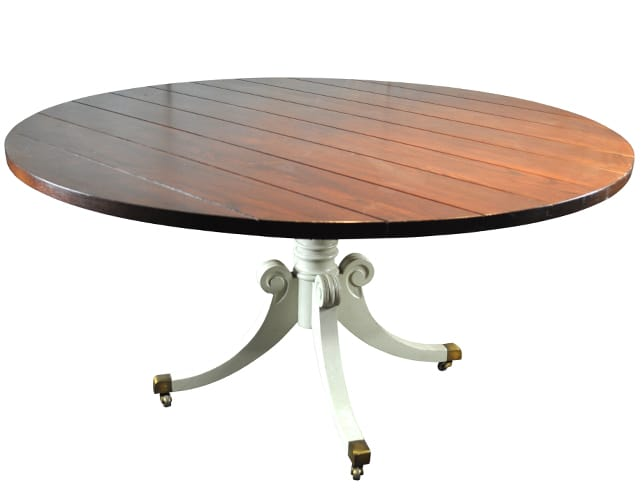 "60"" Round Campaign Dining Table"