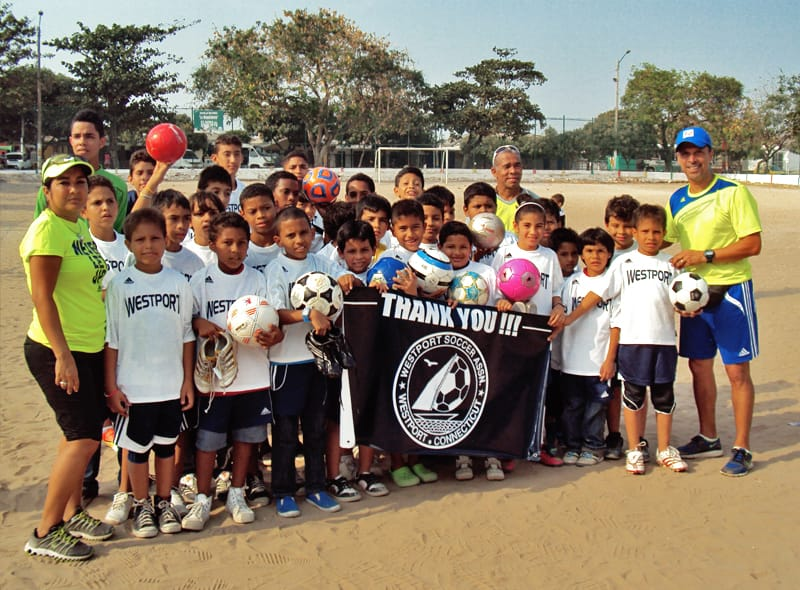 Local Soccer Coach Donates Used Equipment to Children in Need