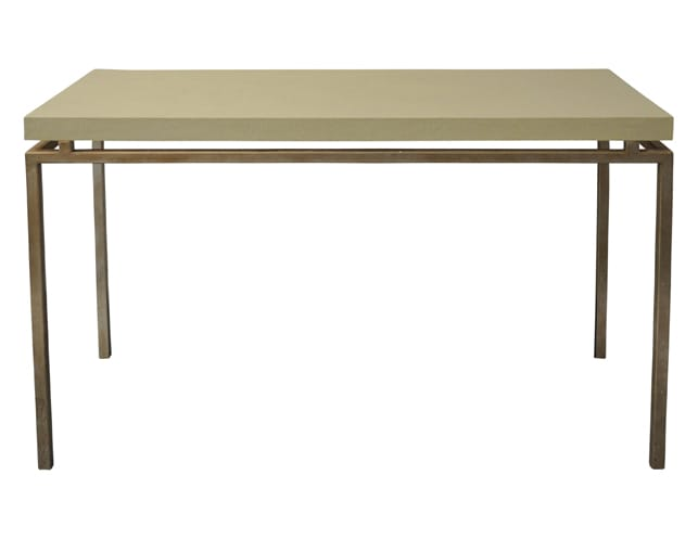 Shagreen Top Console on Gold Metal Base, $790.00 (Estimated Retail: $1575.00)