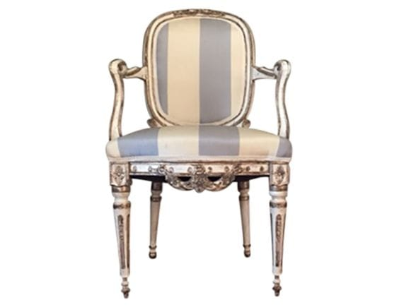 Antique Italian Painted Chair with Gilt Accents, $1,095.00 (Estimated Retail: $2200.00)