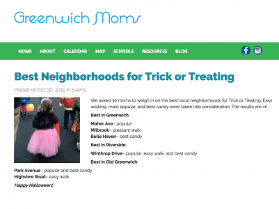 Best Neighborhoods in Greenwich for Trick or Treating - GreenwichMoms.com