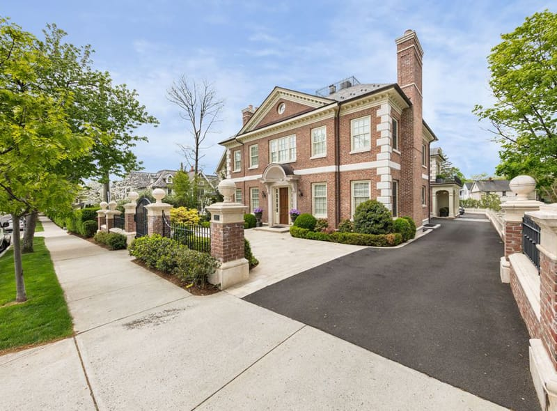 Greenwich Real Estate: Georgian Brick and Limestone Townhome Steps from Greenwich Ave