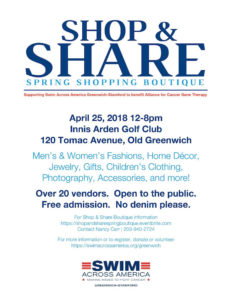 Shop and Share to Benefit Swim Across America - Innis Arden Golf Club