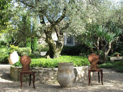 Garden Party Tablescape of Provence with French Wine and Pastries