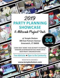 Party Planning Showcase and Mitzvah Project Fair - Temple Sholom