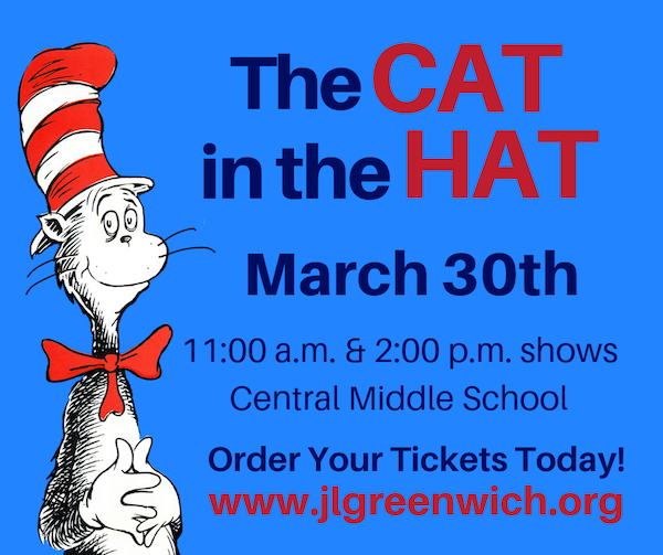 Junior League of Greenwich Presents 'The Cat in the Hat' - Central Middle School - Shows at 11am and 2pm