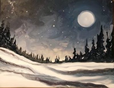 Lunar Moon Paint Night with Margery Scotti - Greenwich Botanical Center