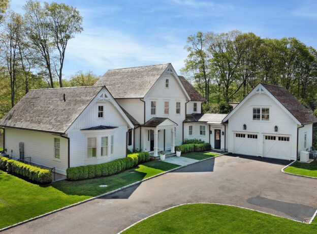 GREENWICH REAL ESTATE: Custom-Built, Direct Waterfront Home With A Dock In Cos Cob
