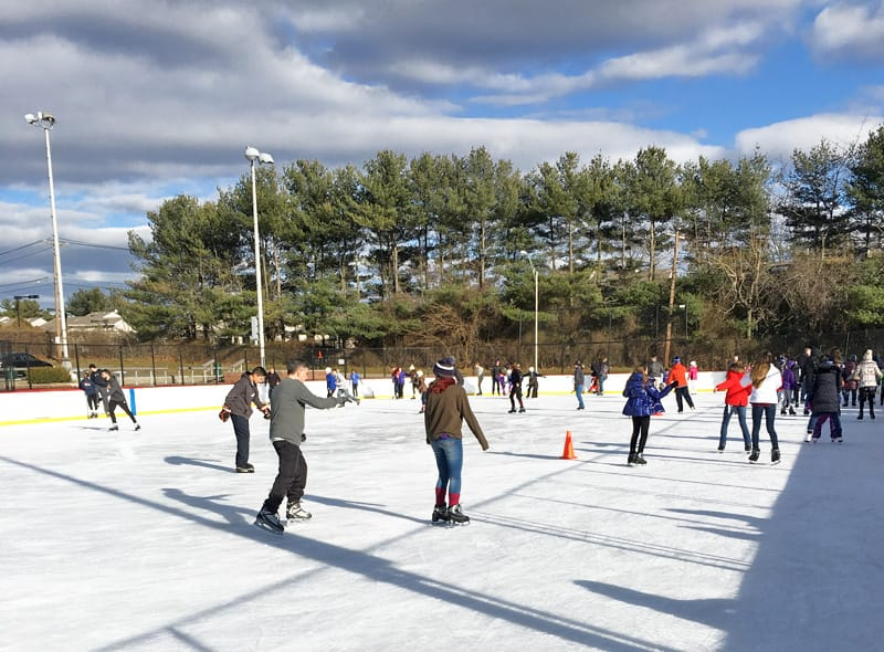 Skating at the Syosset-Woodbury Community Park Ice Rink