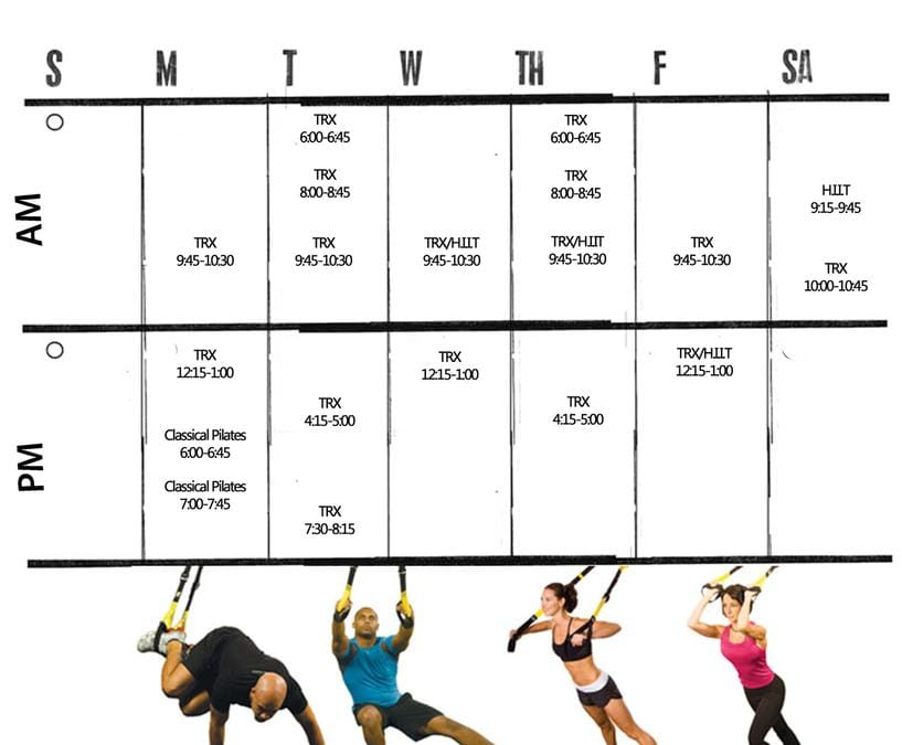 Peak Fitness Schedule