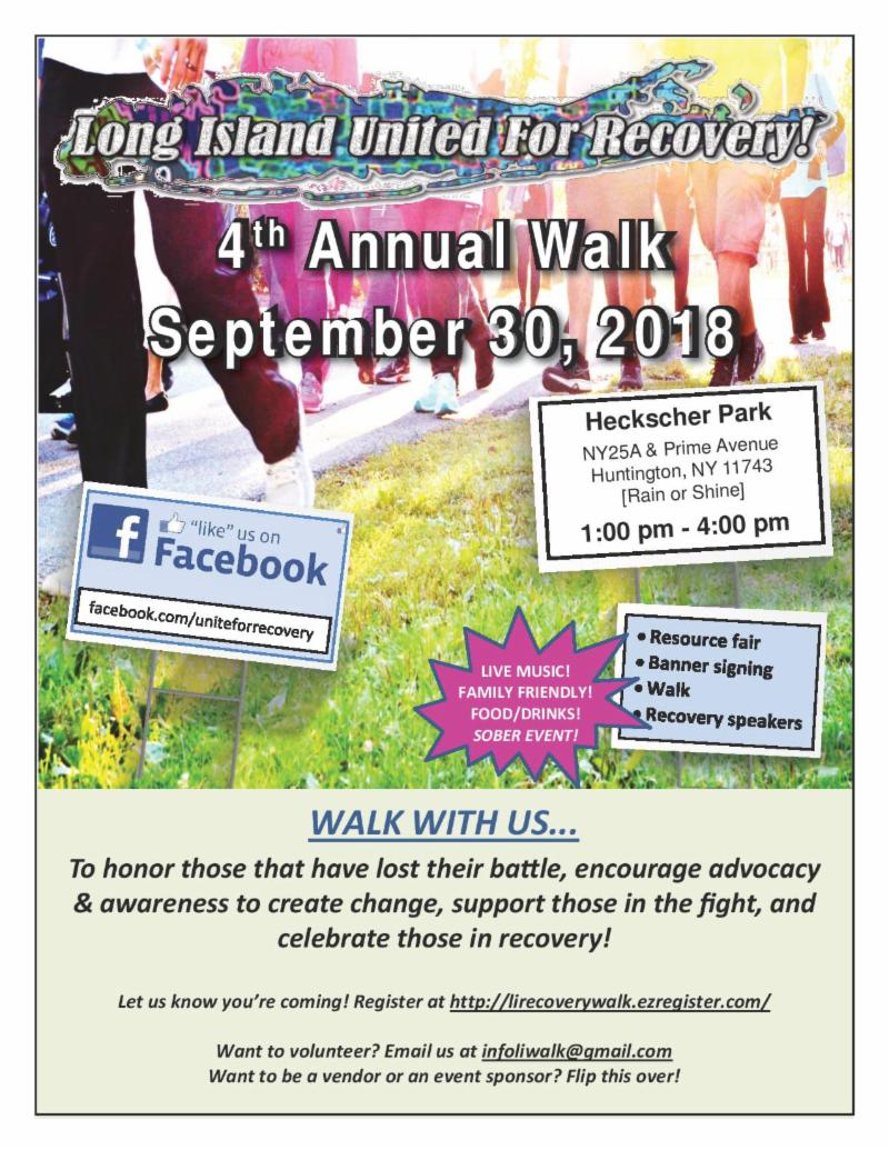 Long Island's 4th Annual Walk for Recovery