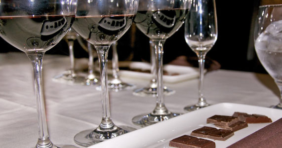 Chocolate and Wine Tasting in the Gallery