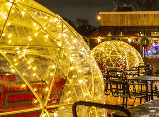 #DineLocal Huntington: Igloo Dining at Finley's of Greene Street