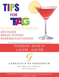 Tips for TAG! Guest Bartenders Donate Tips to Support TAG