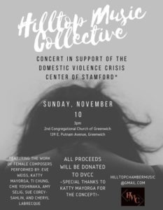 Hilltop Music Collective - Concert in Support of the Domestic Violence Crisis Center of Stamford - Second Congregational Church of Greenwich