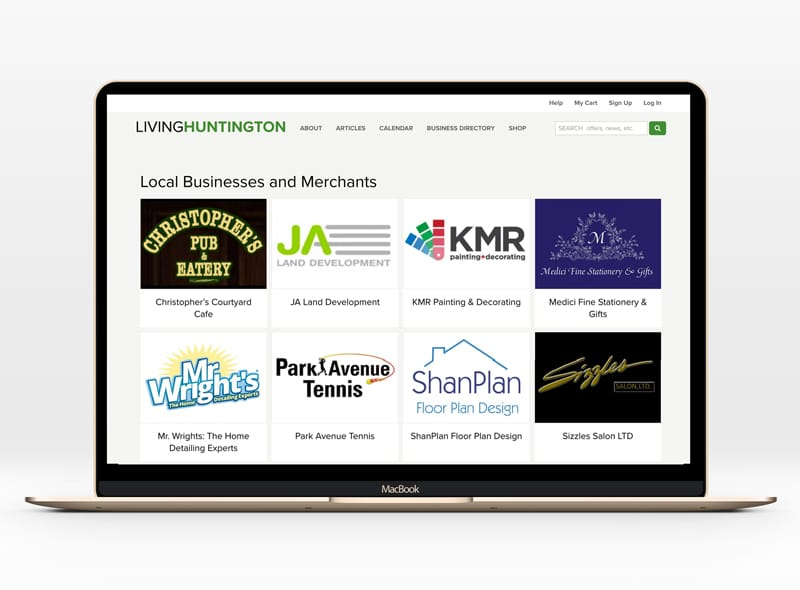New on Living Huntington: Local Business and Merchant Directory
