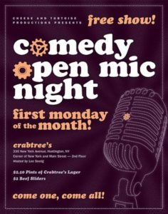 Free Comedy Open Mic Show at Crabtree's