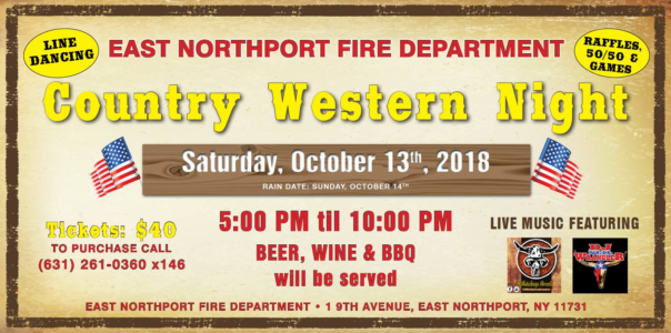 Whiskey Rd with DJ Neil & Sandy- East Northport FD Country Night