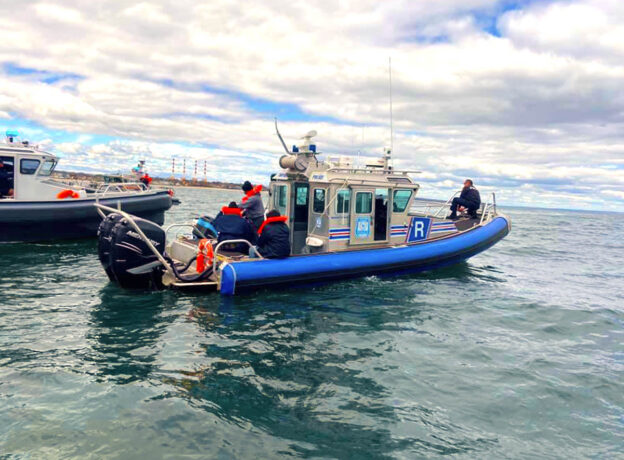 3 Men Rescued From Sinking Boat One Half-Mile Off Crab Meadow Beach in Huntington