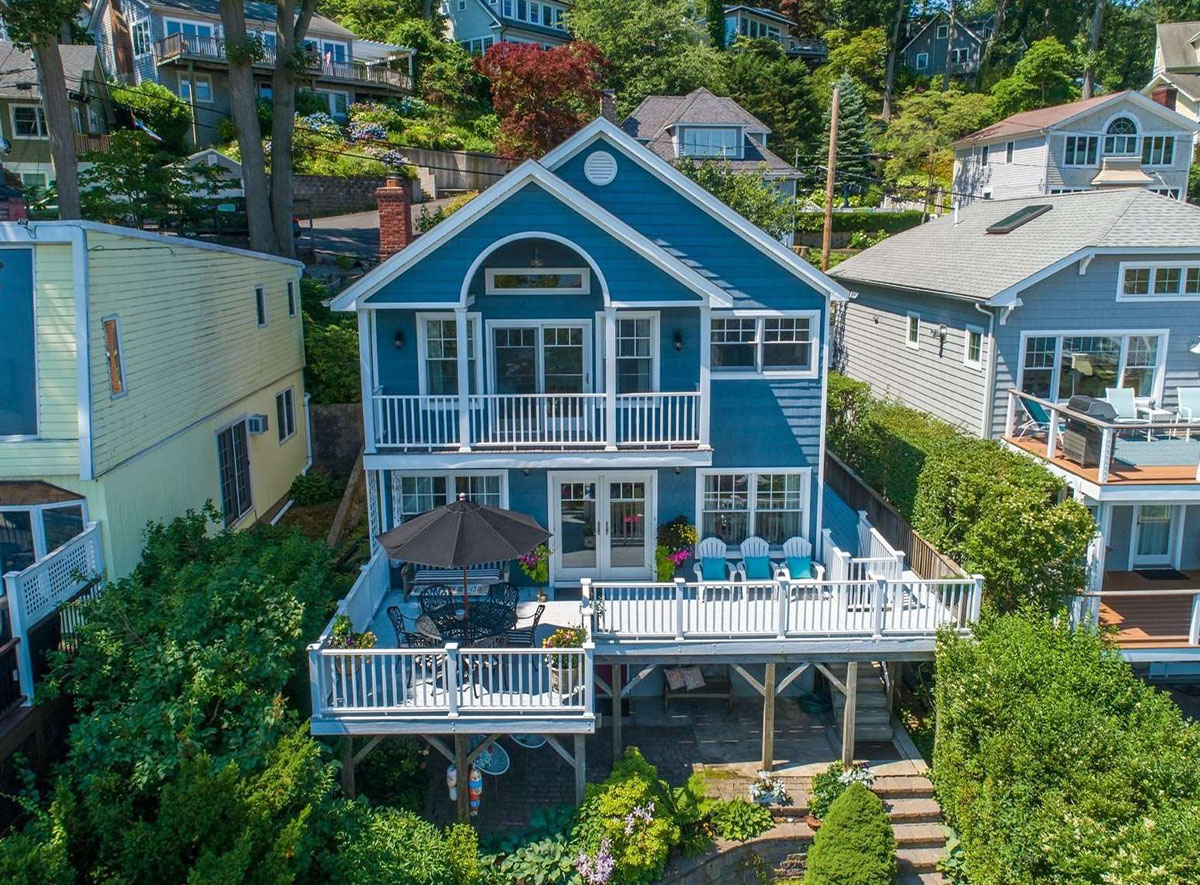 REAL ESTATE: Colonial with Panoramic Water Views of Huntington Bay
